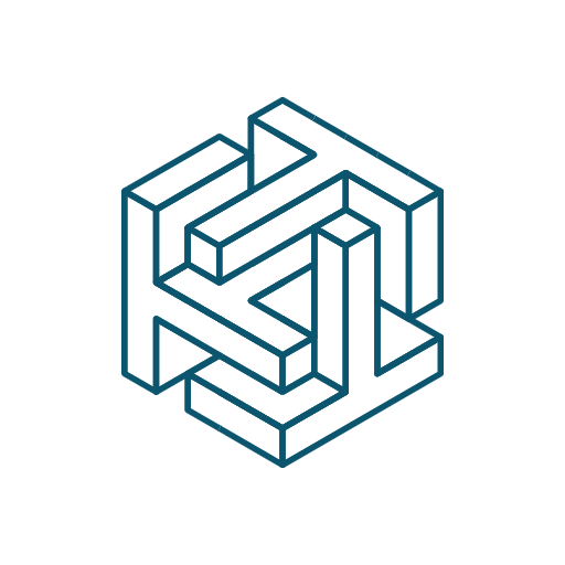 Icon representation of interlocking shapes of Taekion's data security for our most secure file system.